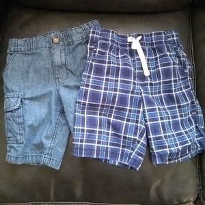Boys Shorts denim & blue plaid